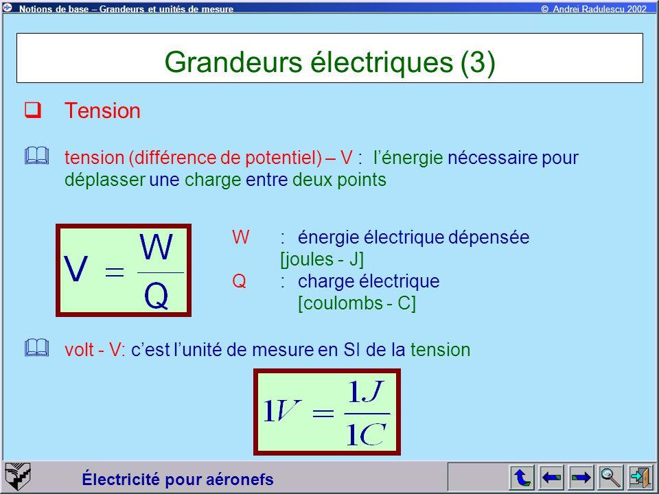 Grandeurs électriques (3)