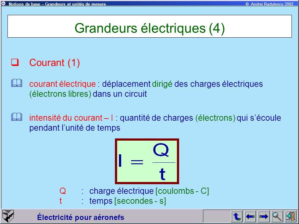 Grandeurs électriques (4)