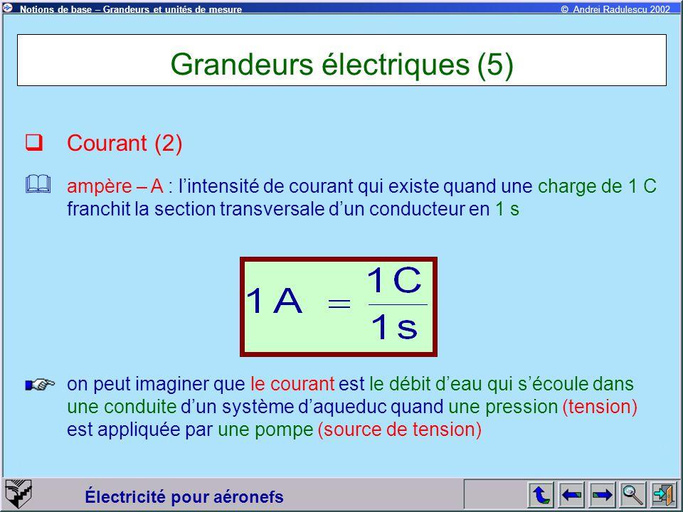 Grandeurs électriques (5)