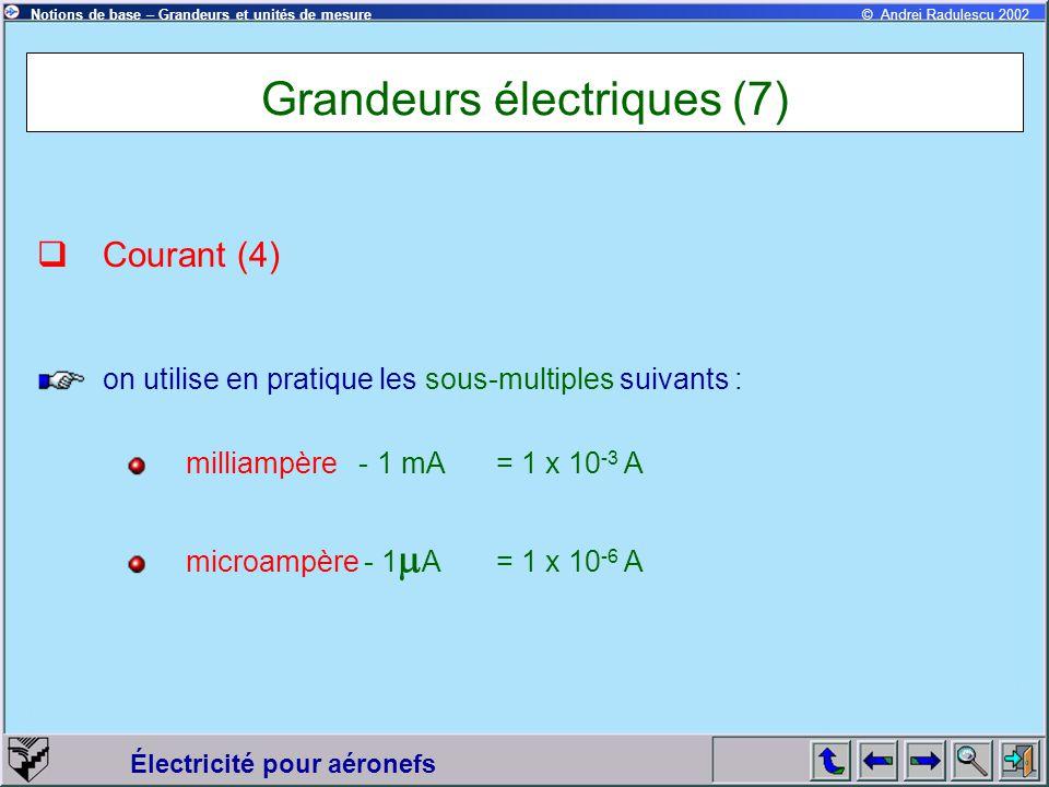 Grandeurs électriques (7)