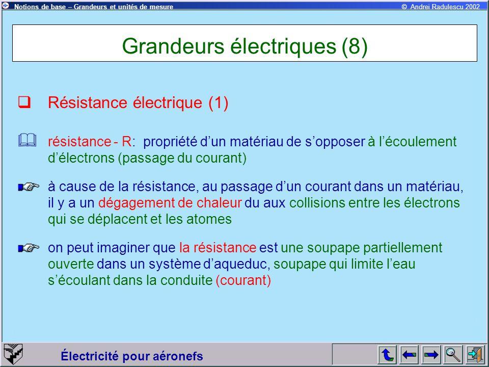 Grandeurs électriques (8)
