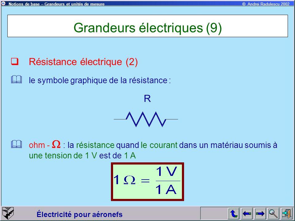 Grandeurs électriques (9)