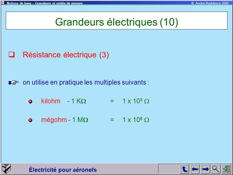 Grandeurs électriques (10)