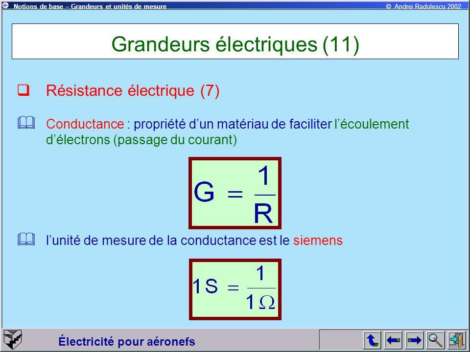 Grandeurs électriques (11)