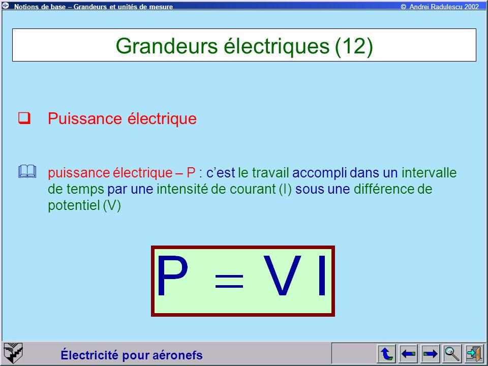 Grandeurs électriques (12)