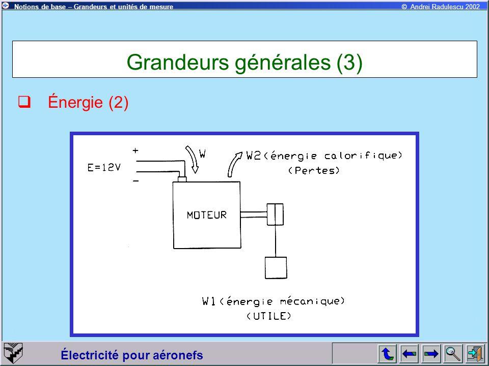 Grandeurs générales (3)