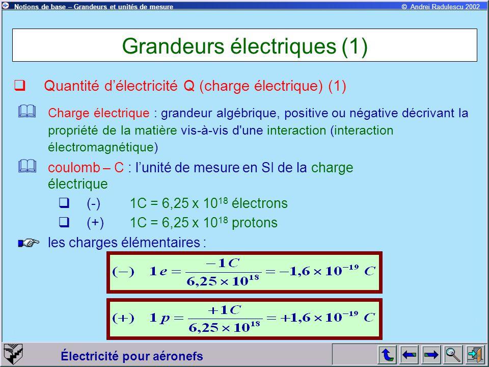 Grandeurs électriques (1)