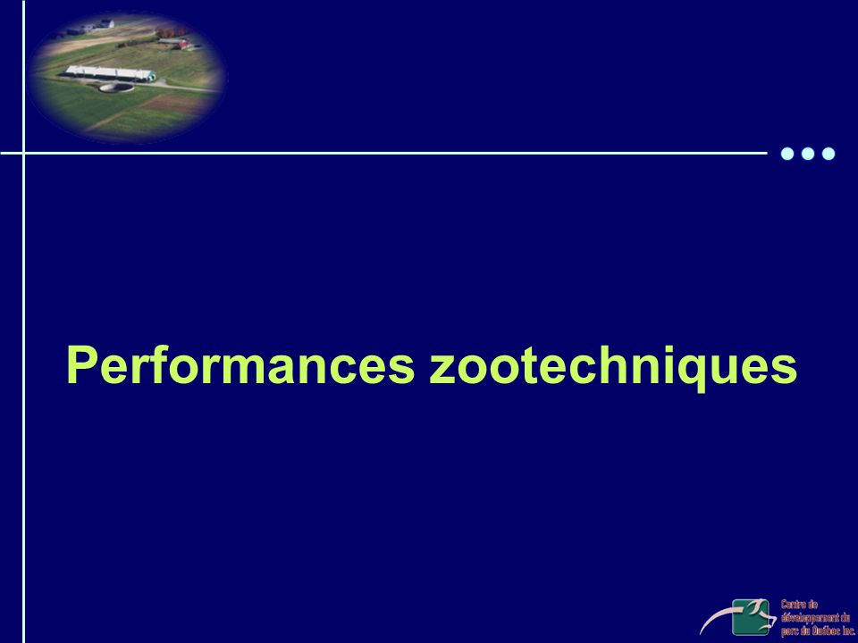 Performances zootechniques