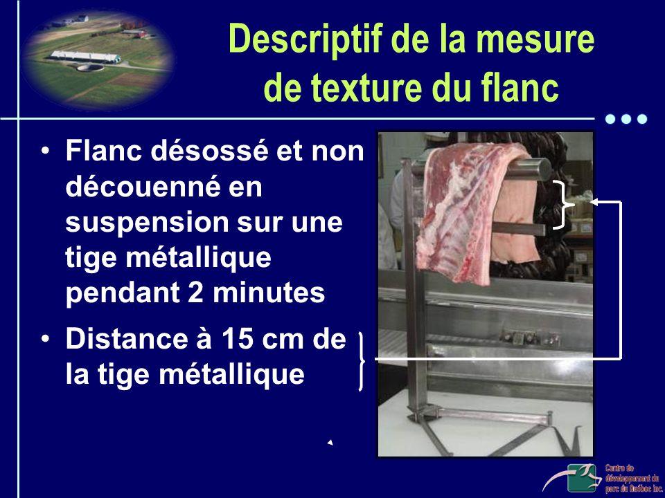 Descriptif de la mesure de texture du flanc