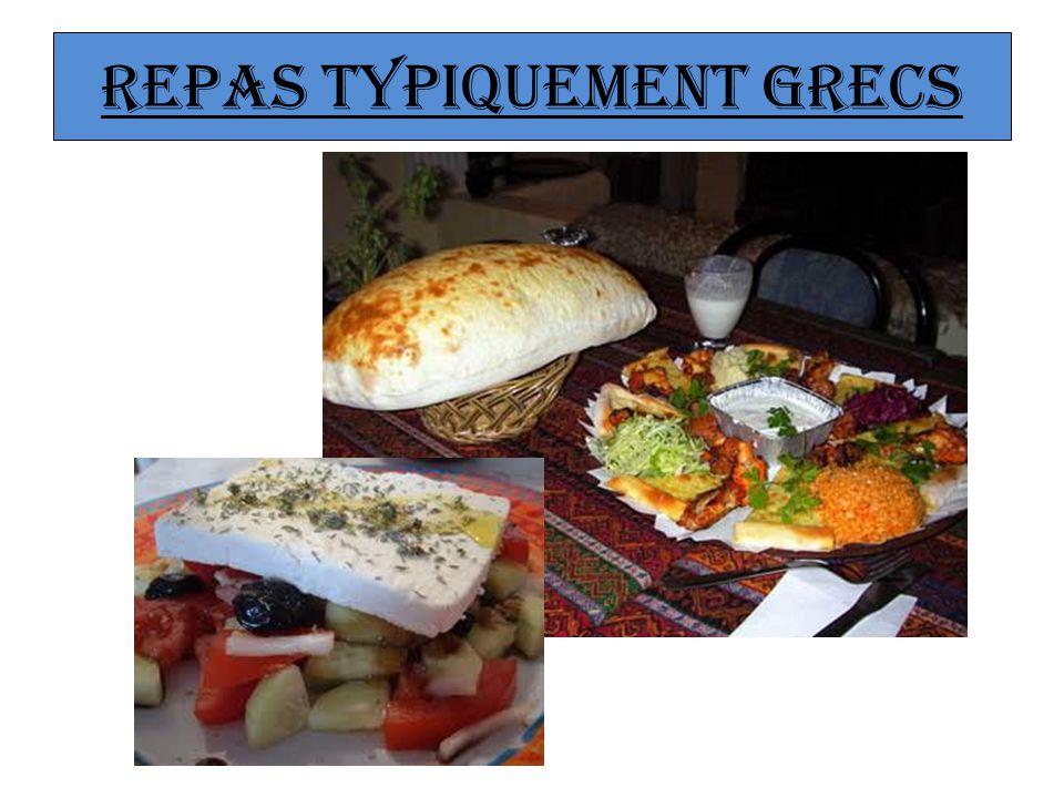 Repas typiquement grecs
