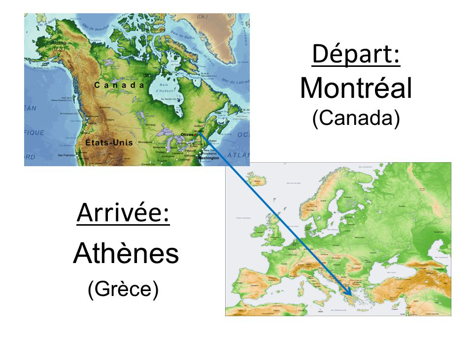 Départ: Montréal (Canada)