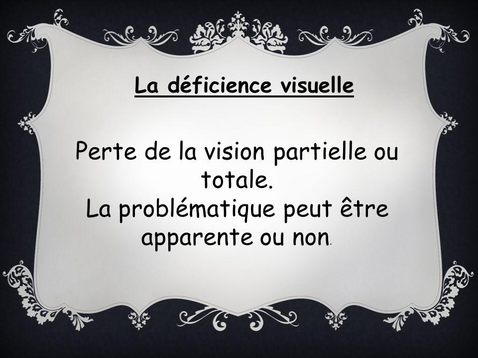 Perte de la vision partielle ou totale.