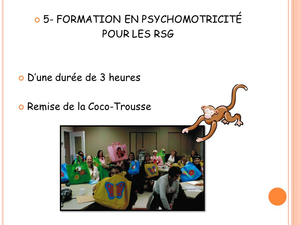 5- FORMATION EN PSYCHOMOTRICITÉ