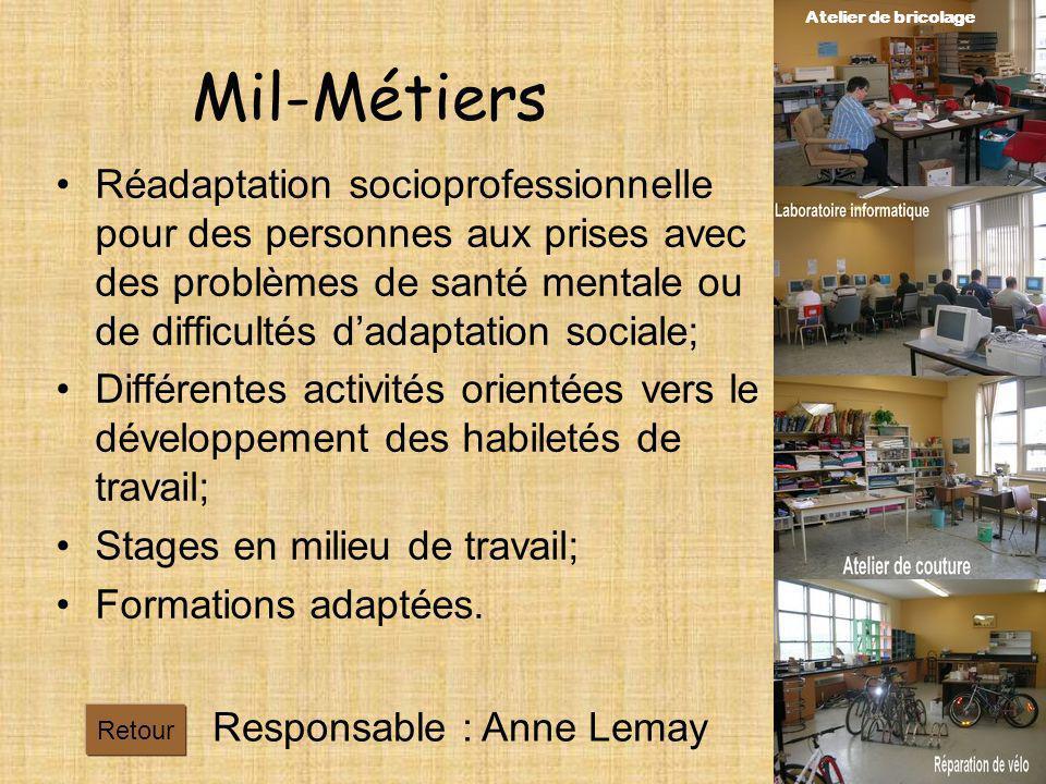 Atelier de bricolage Mil-Métiers.