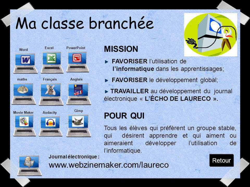 Ma classe branchée MISSION POUR QUI www.webzinemaker.com/laureco