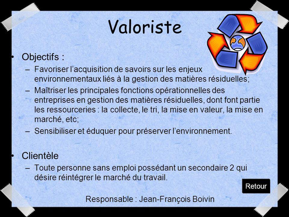 Responsable : Jean-François Boivin