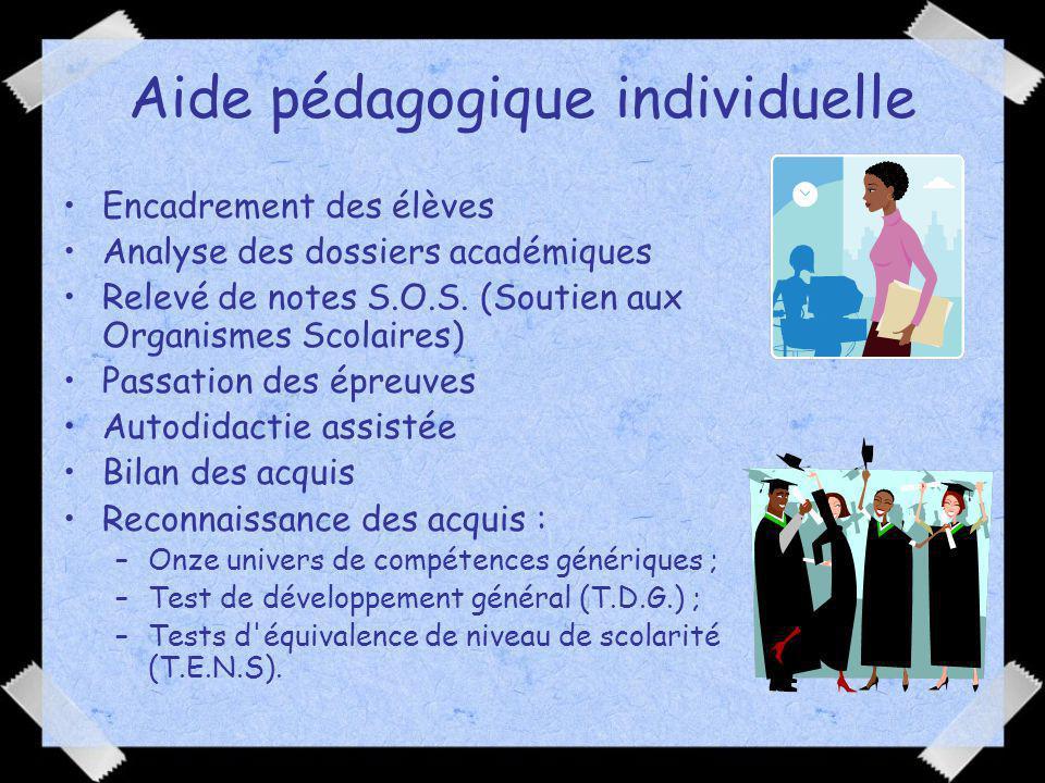Aide pédagogique individuelle