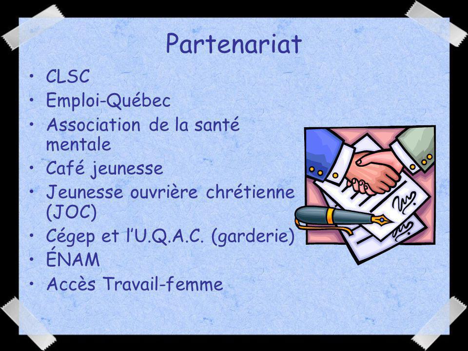 Partenariat CLSC Emploi-Québec Association de la santé mentale