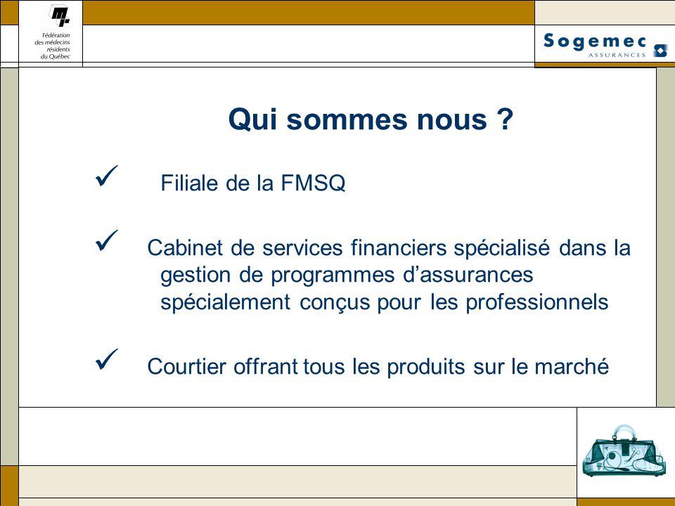 Qui sommes nous Filiale de la FMSQ