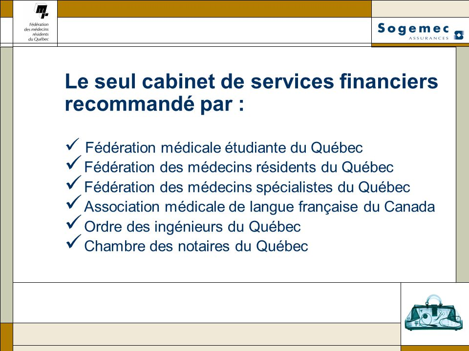 Le seul cabinet de services financiers recommandé par :