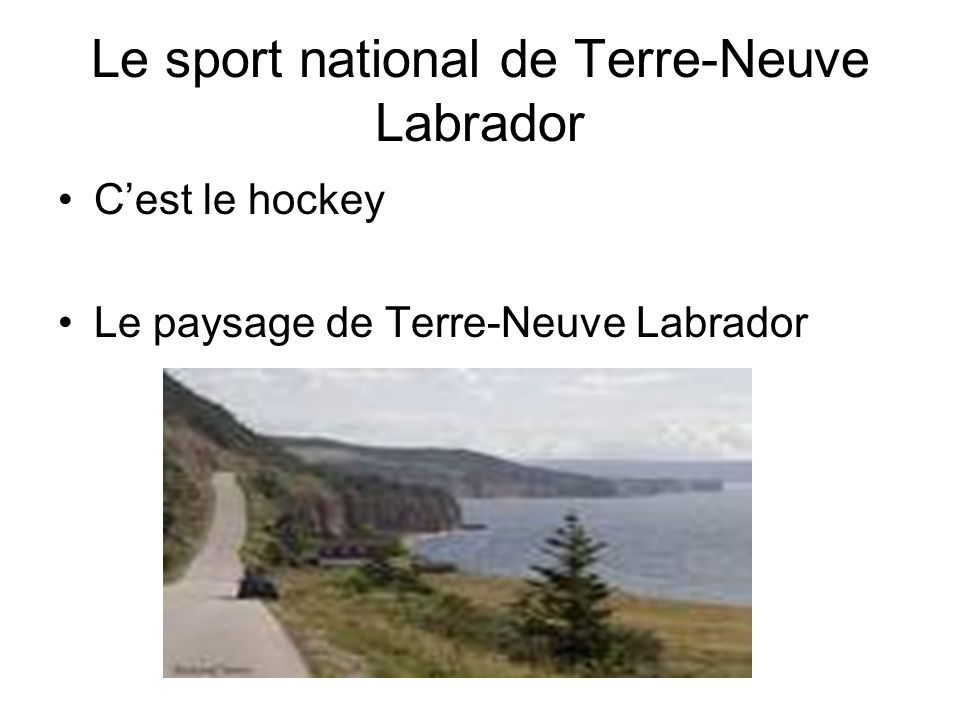 Le sport national de Terre-Neuve Labrador