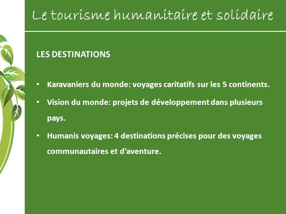 Le tourisme humanitaire et solidaire