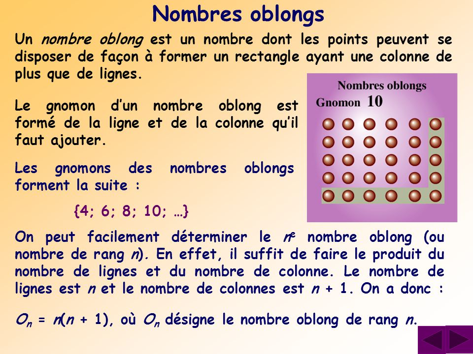Nombres oblongs