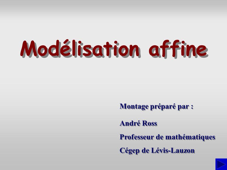 Modélisation affine Montage préparé par : André Ross