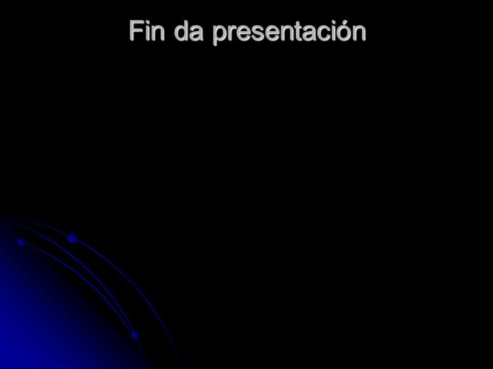 Fin da presentación