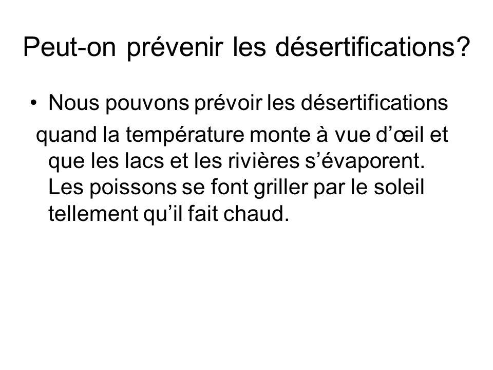 Peut-on prévenir les désertifications
