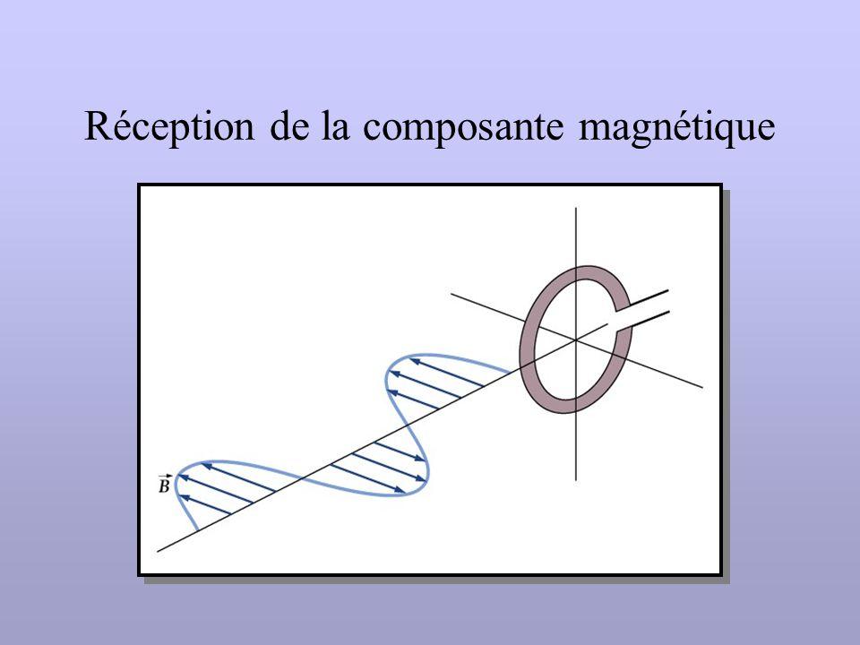 Réception de la composante magnétique