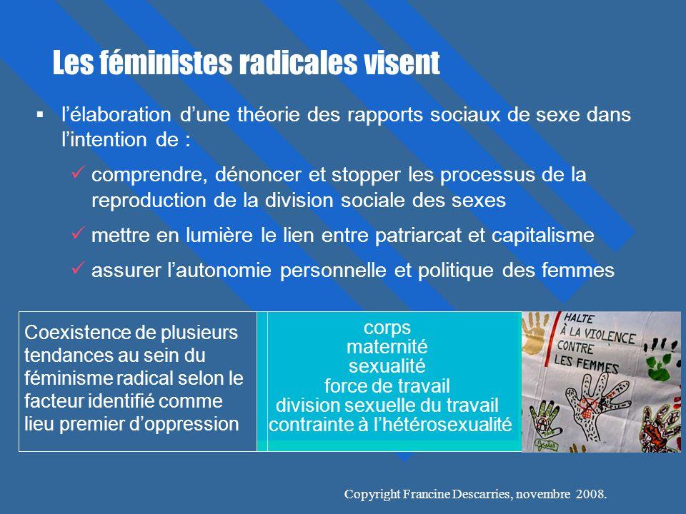 Les féministes radicales visent
