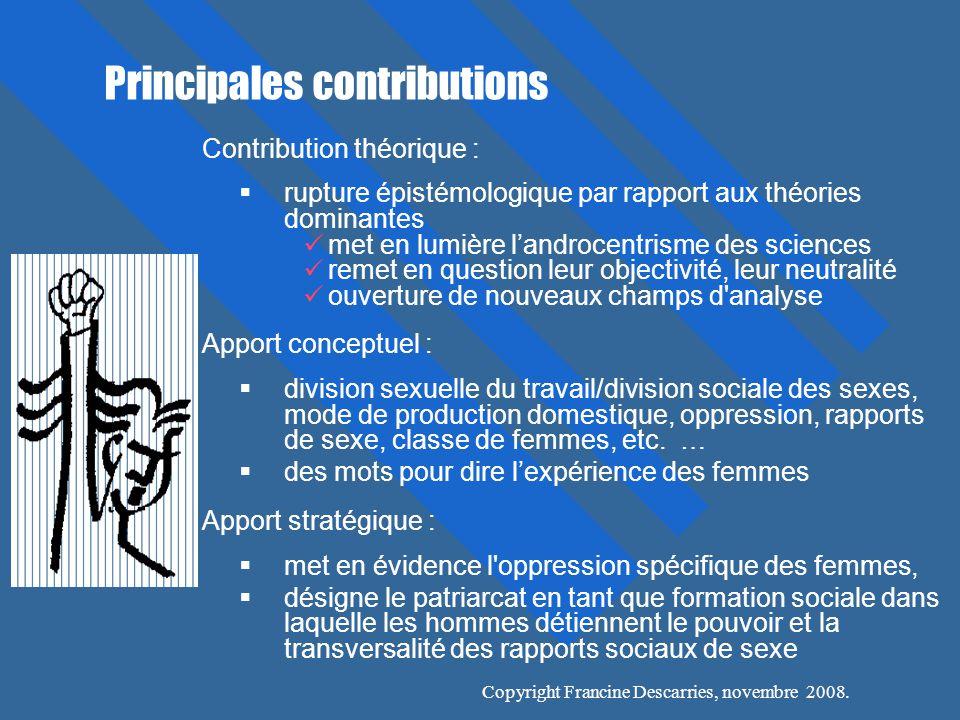 Principales contributions