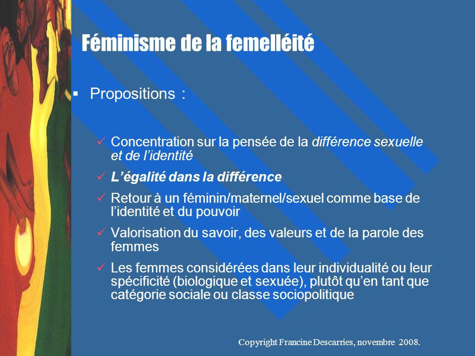 Féminisme de la femelléité