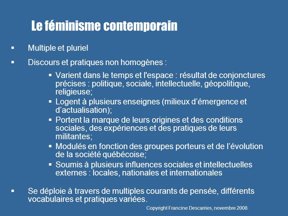 Le féminisme contemporain