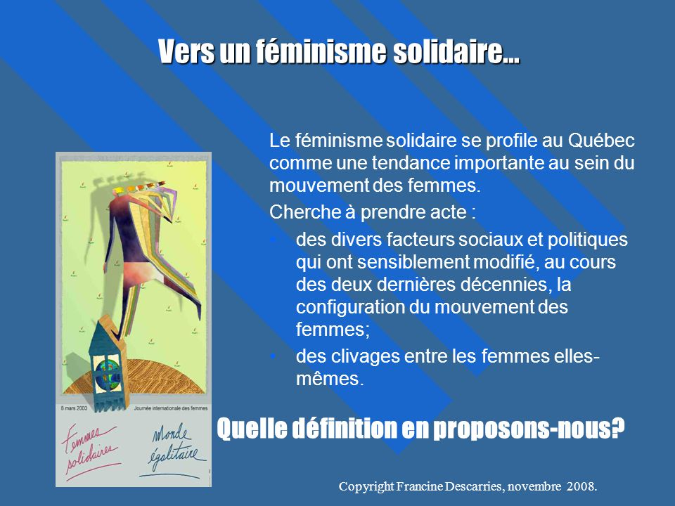 Vers un féminisme solidaire…