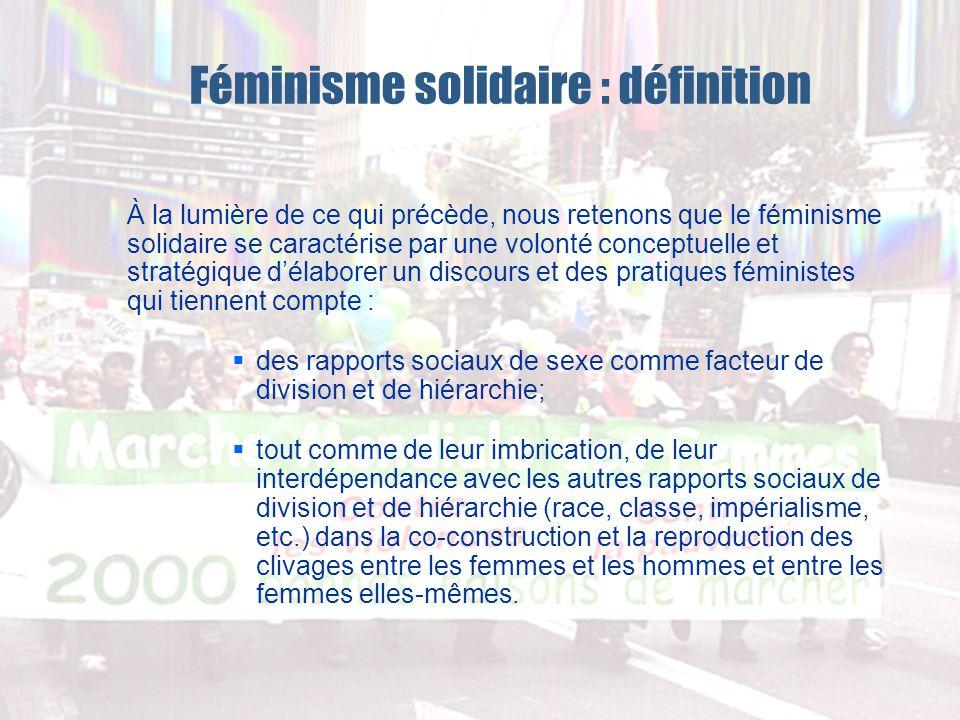 Féminisme solidaire : définition