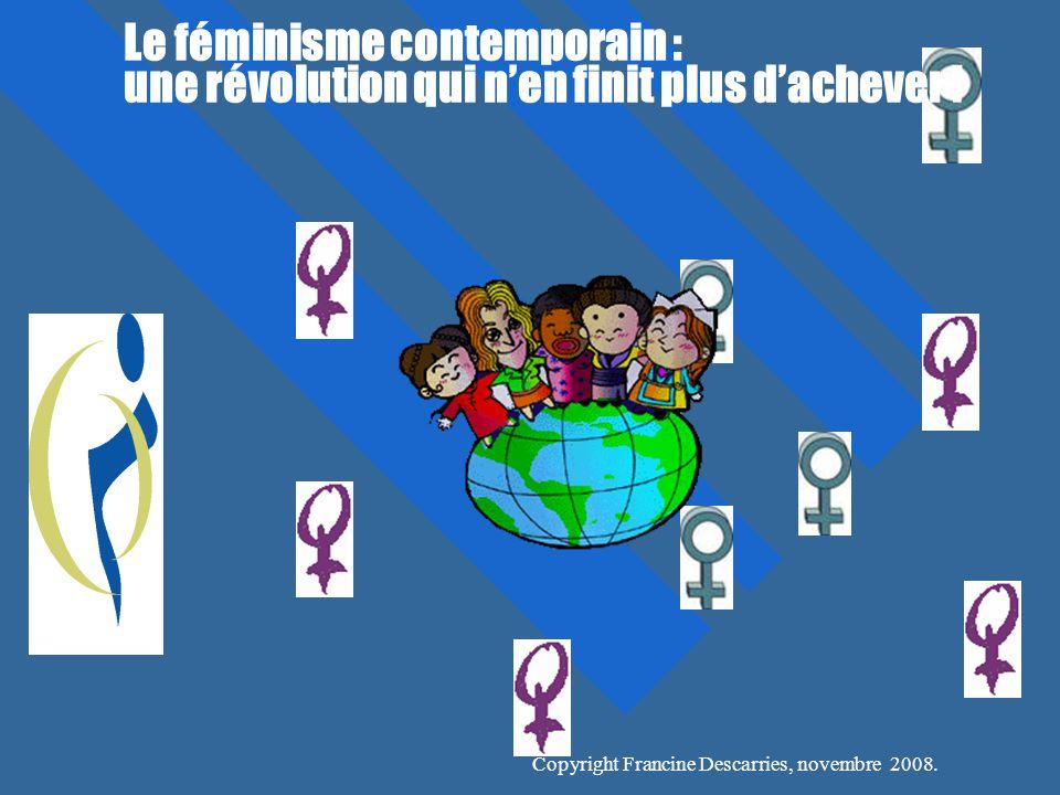 Le féminisme contemporain : une révolution qui n'en finit plus d'achever !