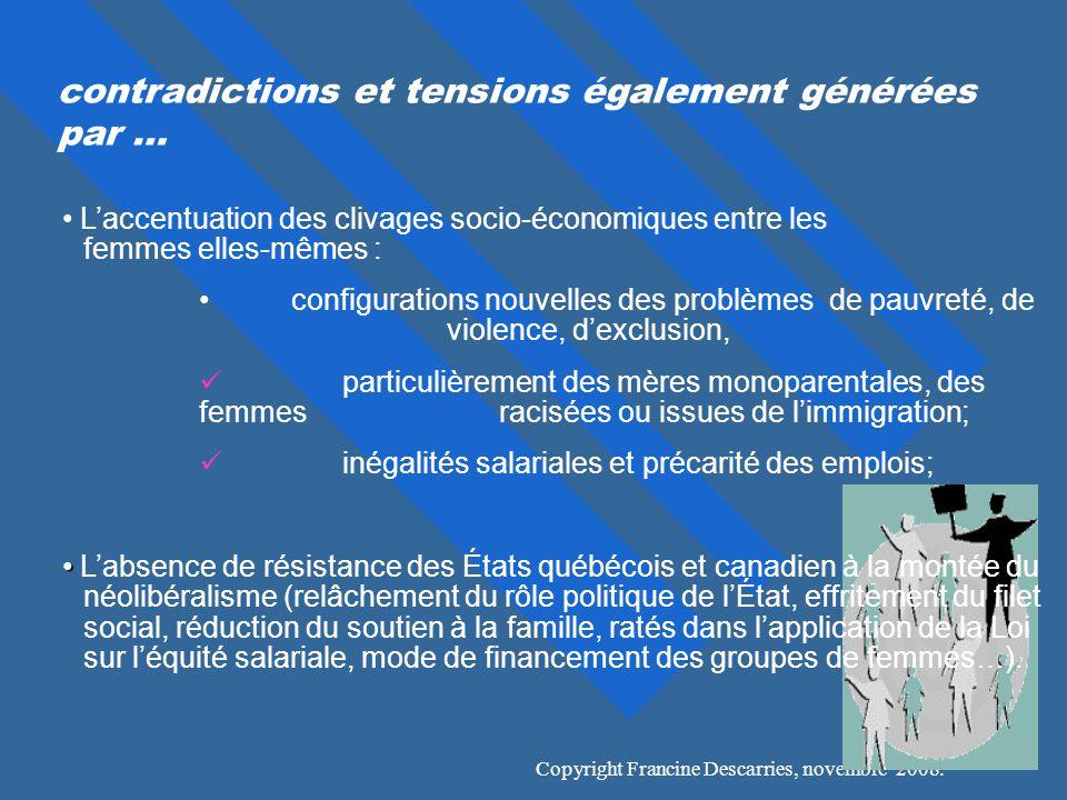 contradictions et tensions également générées par …