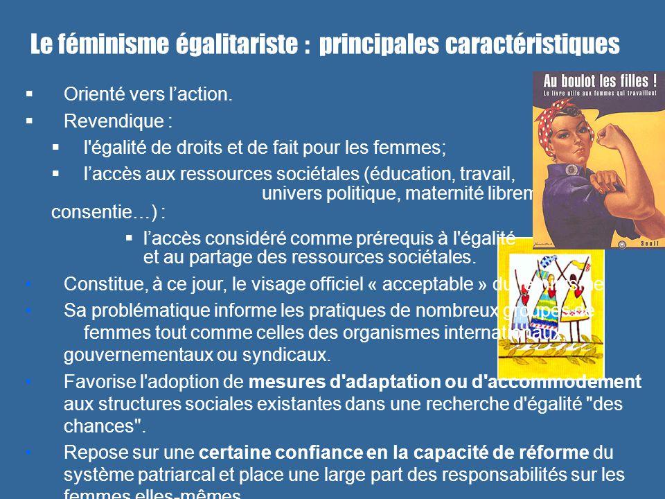 Le féminisme égalitariste : principales caractéristiques