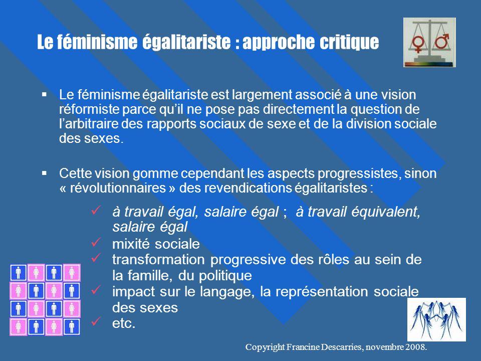Le féminisme égalitariste : approche critique