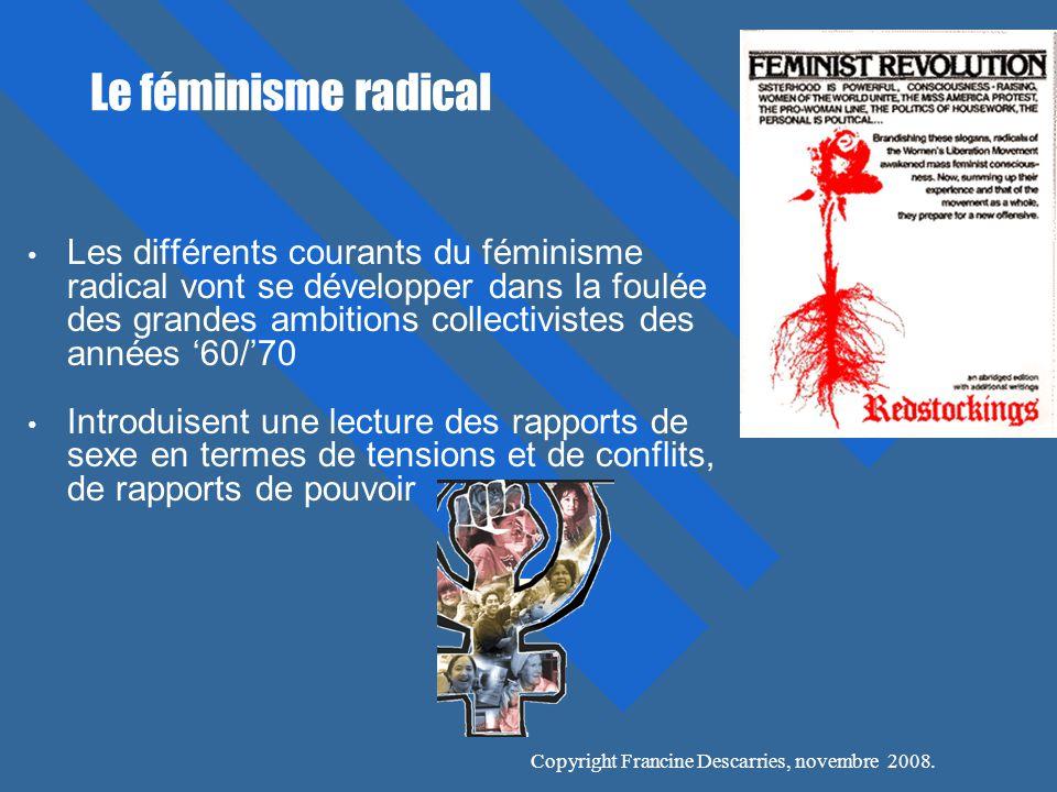 Le féminisme radical