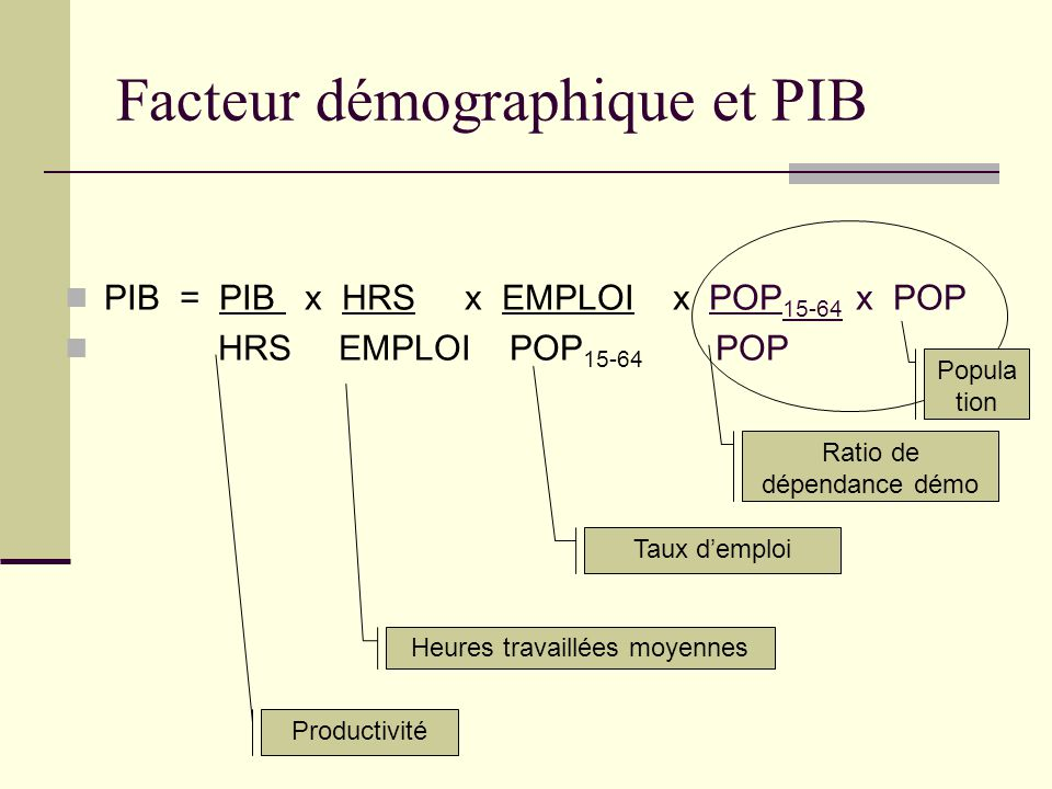 Facteur démographique et PIB