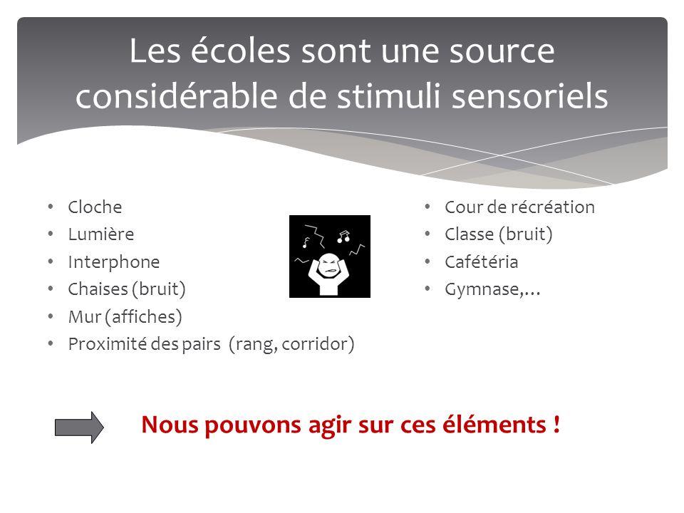 Les écoles sont une source considérable de stimuli sensoriels
