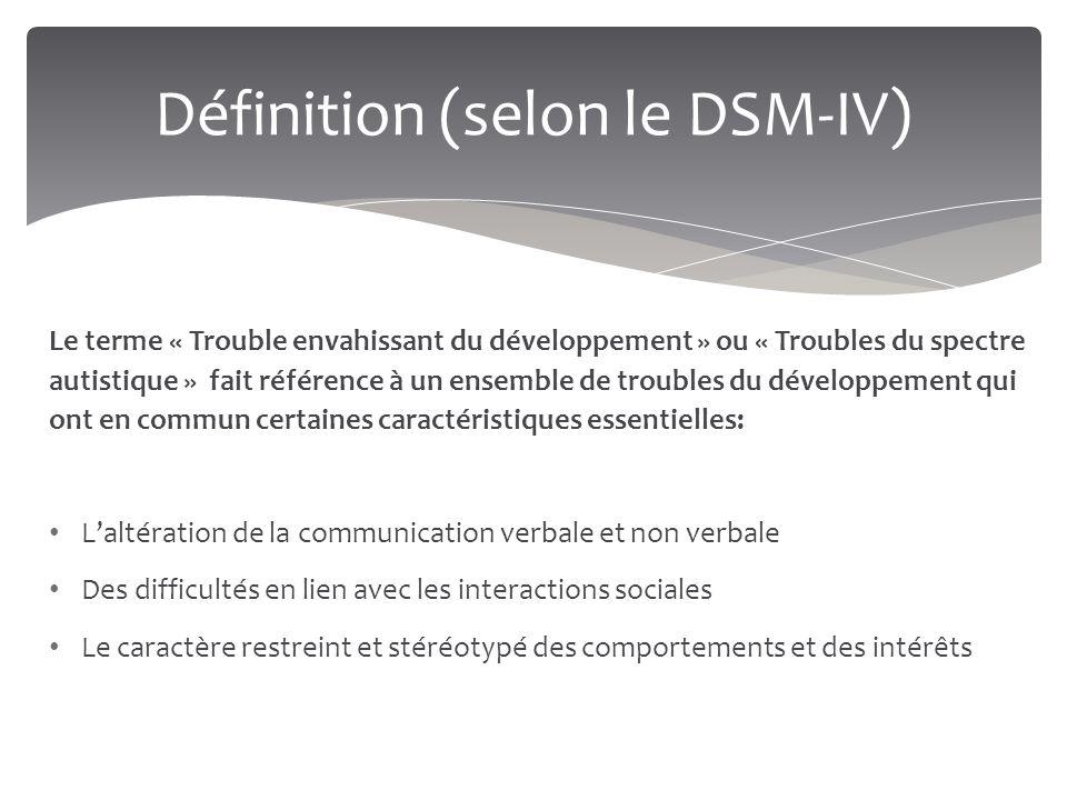 Définition (selon le DSM-IV)