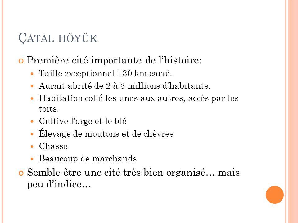 Çatal höyük Première cité importante de l'histoire: