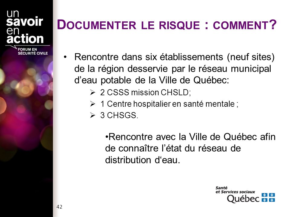 Documenter le risque : comment