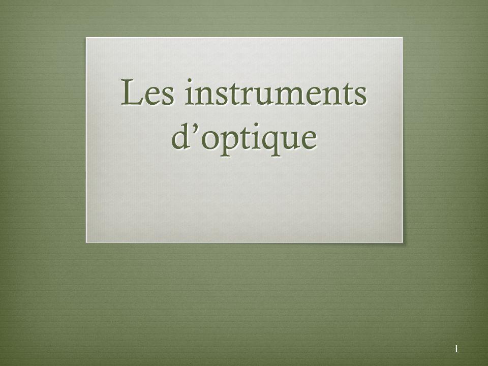 Les instruments d'optique