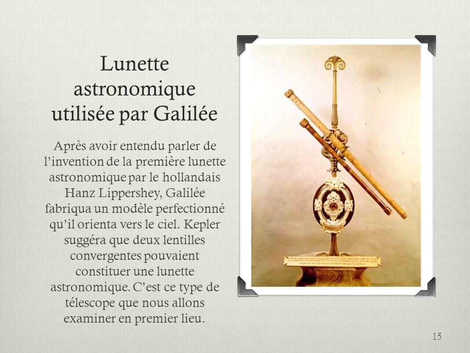 Lunette astronomique utilisée par Galilée
