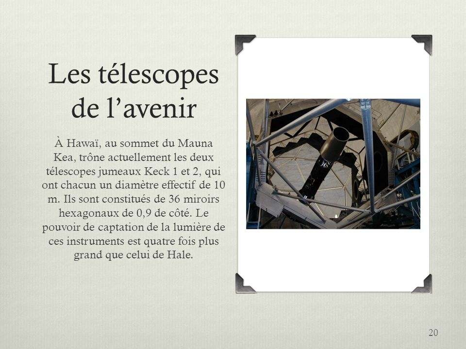 Les télescopes de l'avenir